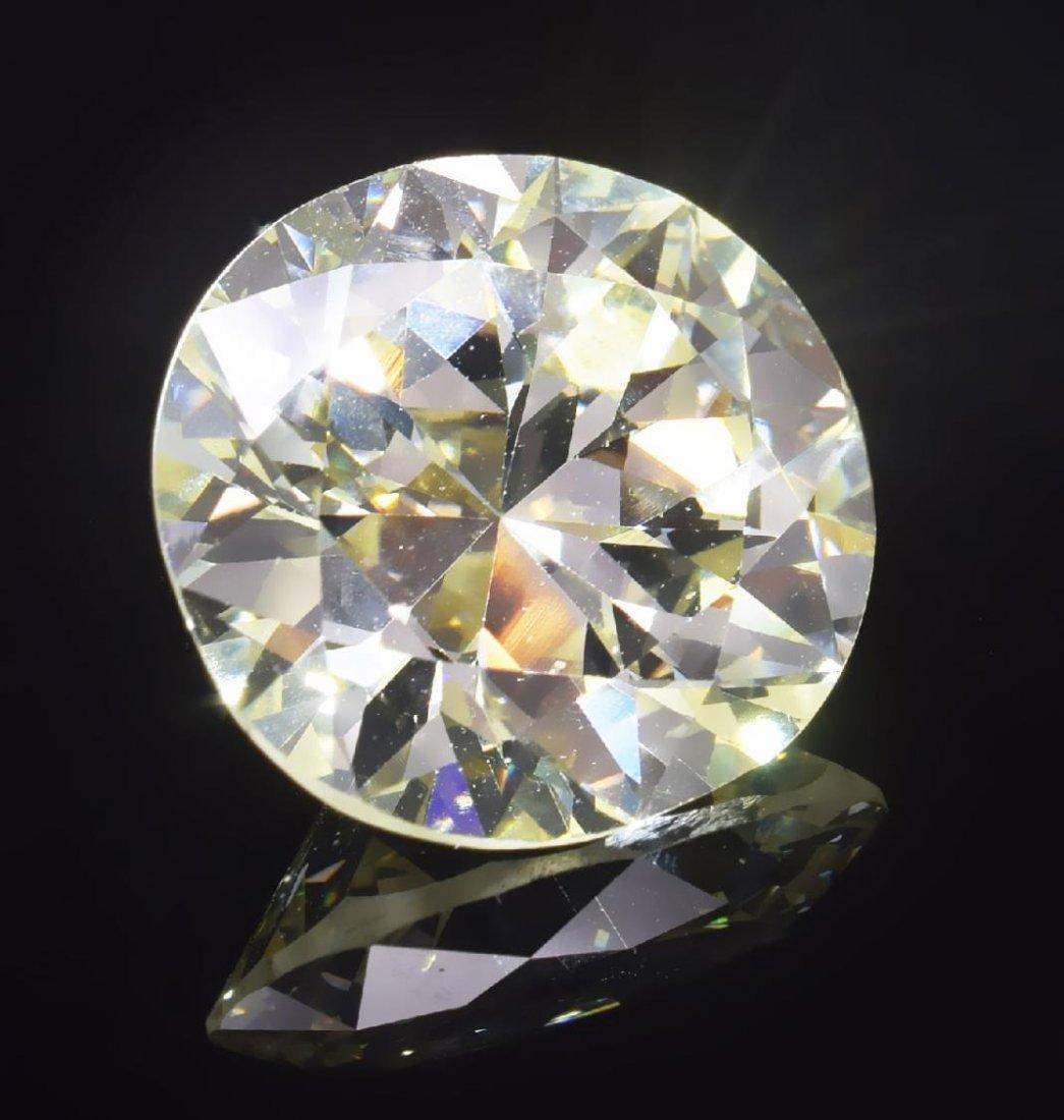 GIA ESTATE 13.57 CT CIRCULAR BRILLIANT CUT DIAMOND