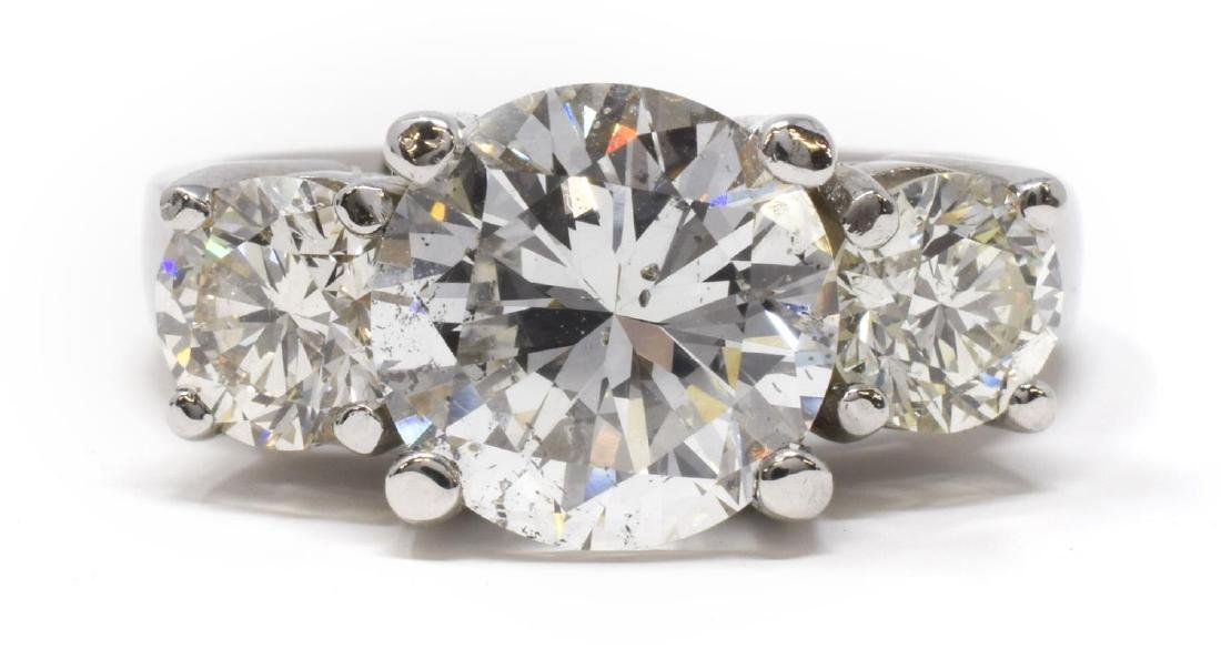 4.69CTTW DIAMOND 14KT WG RING, GIA CENTER STONE