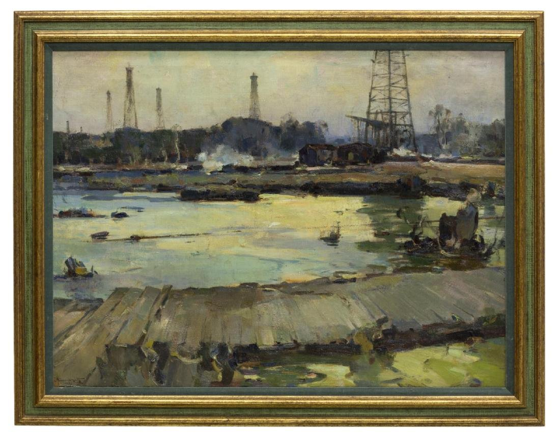 "WALTER GRANVILLE-SMITH(1870-1938)OIL WELLS 30""x40"""