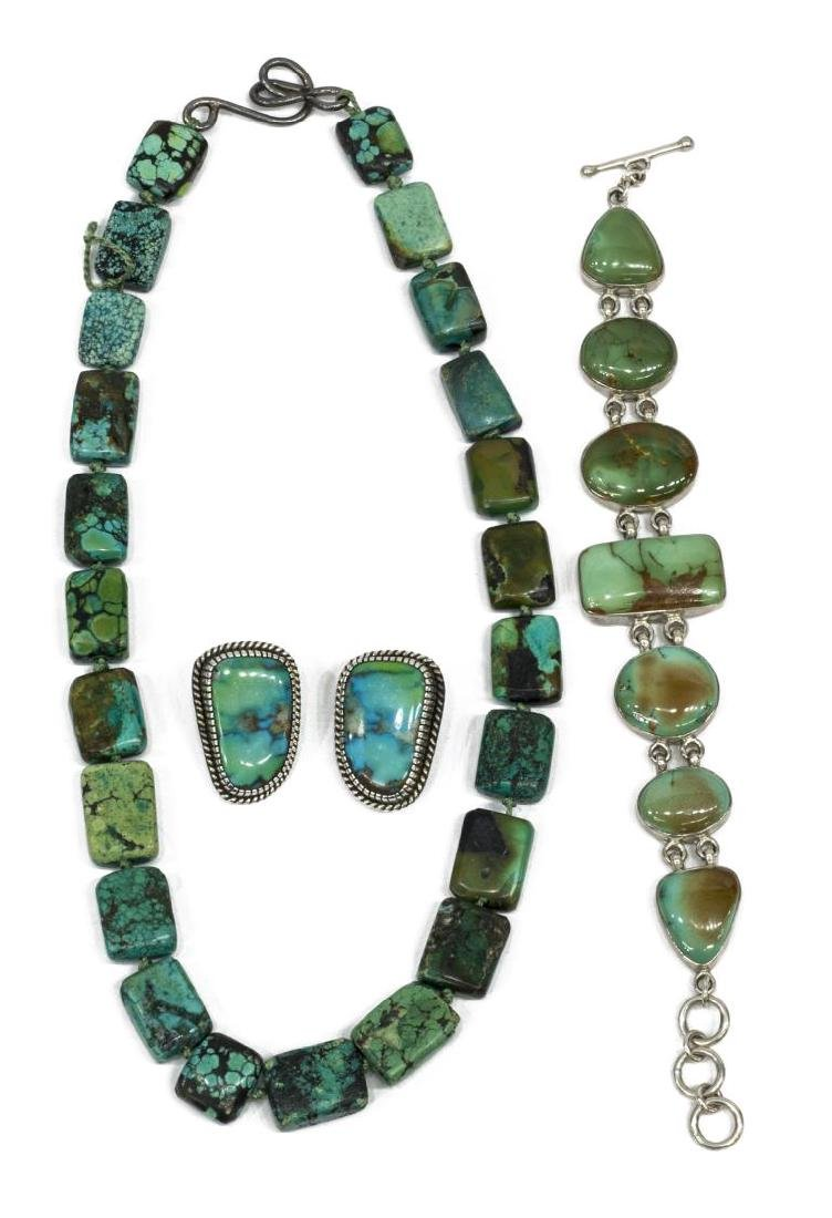 (4) STERLING SILVER & TURQUOISE JEWELRY