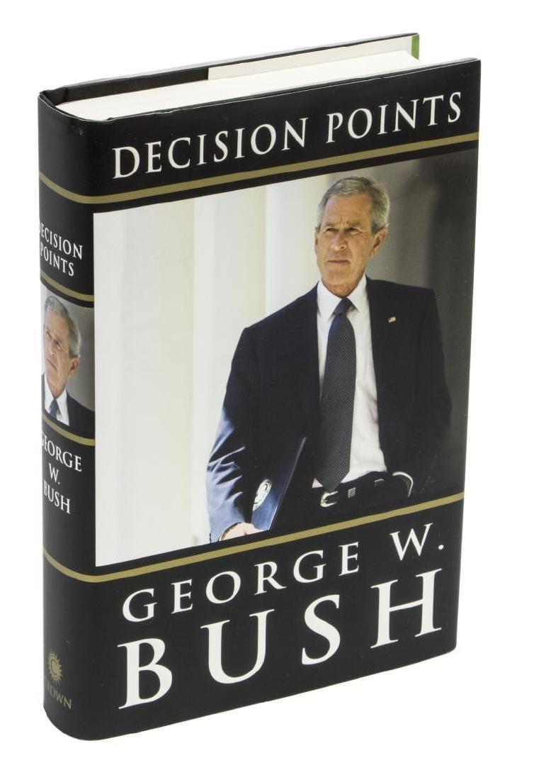 """AUTOGRAPHED BOOK """"DECISION POINTS, GEORGE W. BUSH"""