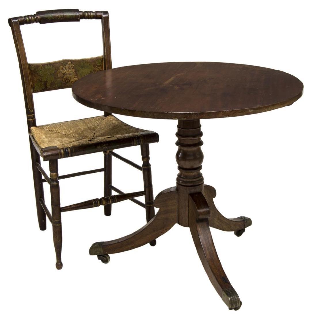 (2) AMERICAN TILT-TOP TEA TABLE & CHAIR