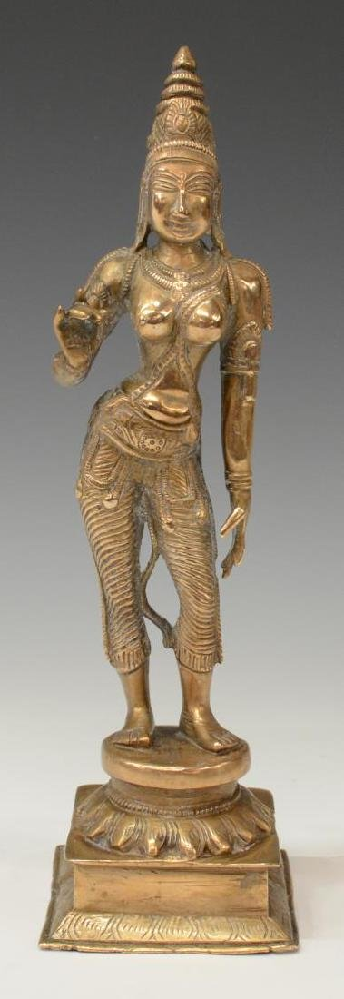 SOUTH EAST ASIAN BRONZE STANDING DIETY FIGURE