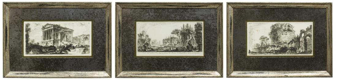 (3) GIOVANNI PIRANESI (D.1778) MONUMENT ETCHINGS