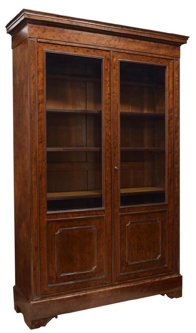 """FRENCH DOUBLE DOOR BOOKCASE, 86""""H"""