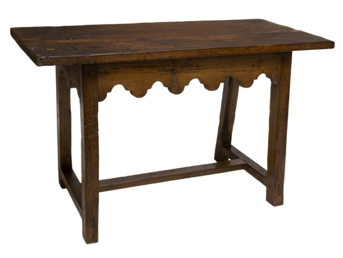SPANISH SINGLE BOARD TOP WORK TABLE, C. 1800