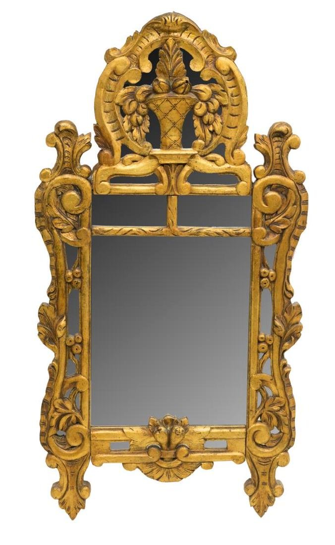 FRENCH SEGEMENTED GILT WALL MIRROR