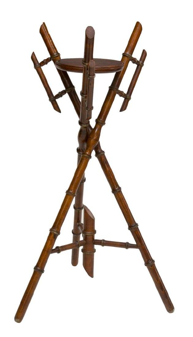 FRENCH AESTHETIC MOVEMENT FAUX BAMBOO PLANT STAND