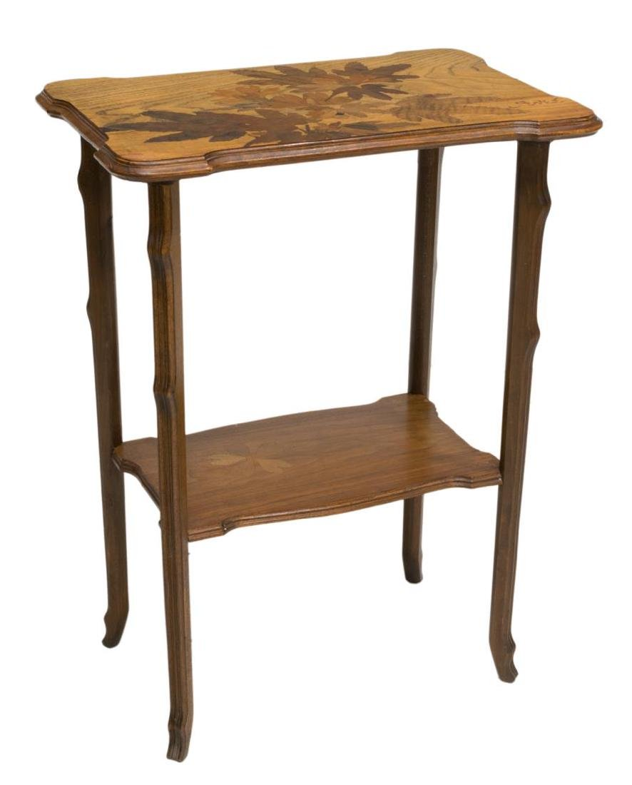 FRENCH MARQUETRY SIDE TABLE, SIGNED GALLE