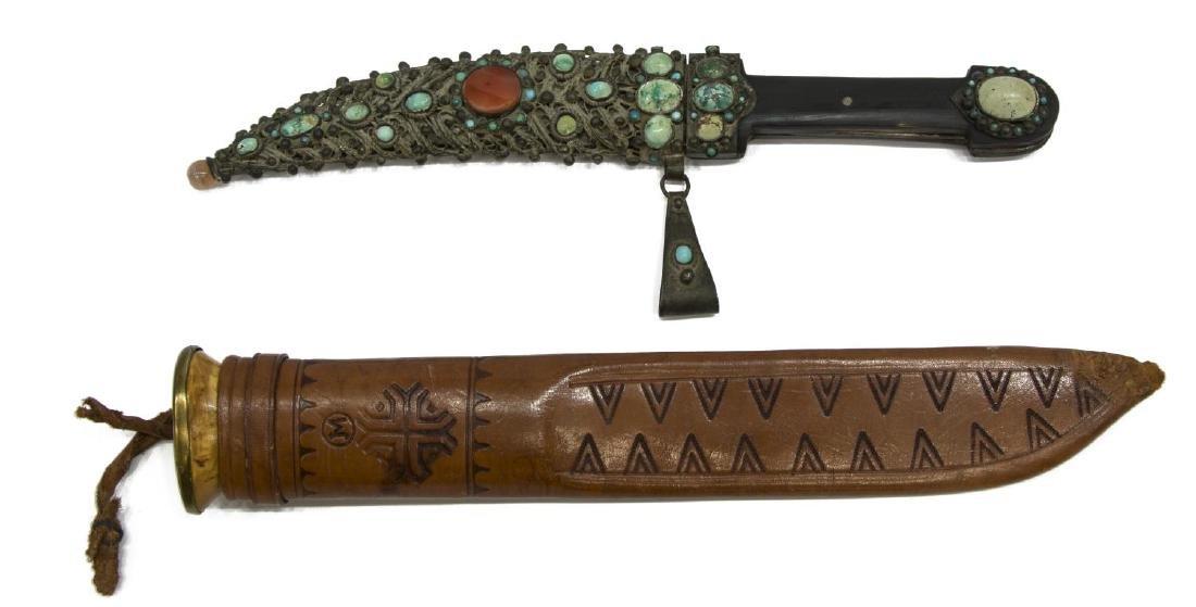 (2) FIXED BLADE KNIVES, TIBETAN & FINLAND