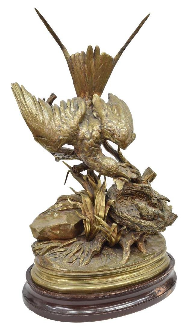 JULES MOIGNIEZ (1835-1894) WILDLIFE BRONZE BIRDS