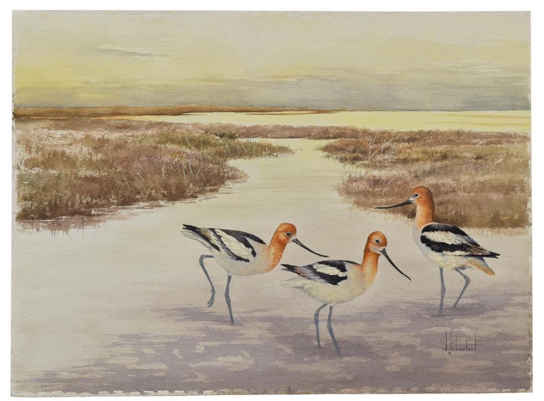 (2) D. HOWLAND (NY, 1920-1999) WATERCOLOR PAINTING