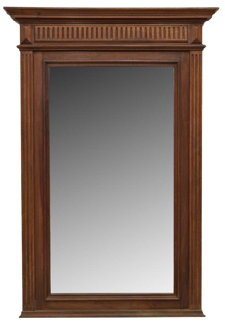 FRENCH HENRI II STYLE CARVED MAHOGANY WALL MIRROR