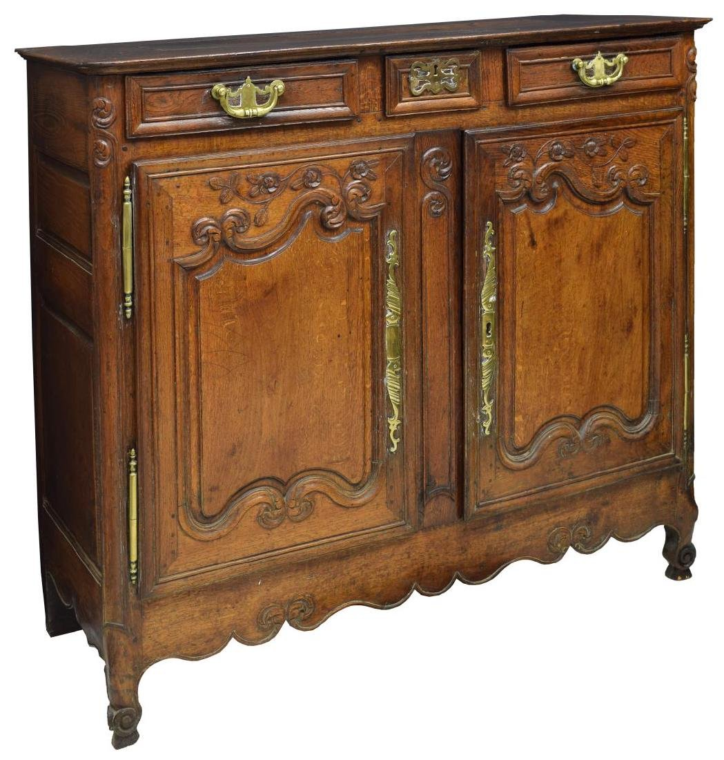 FRENCH LOUIS XV CARVED SIDEBOARD, 18TH/19TH C.