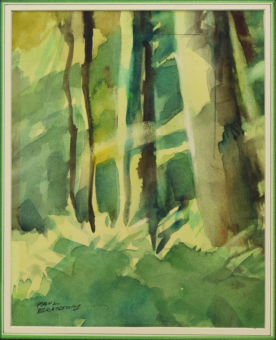 PAUL BRANSOM (WY, 1885-1979) WATERCOLOR PAINTING