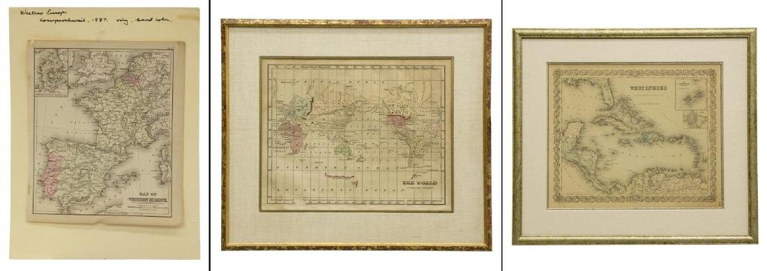 (3) MAPS, MERCATOR'S PROJECTION, WESTERN EUROPE