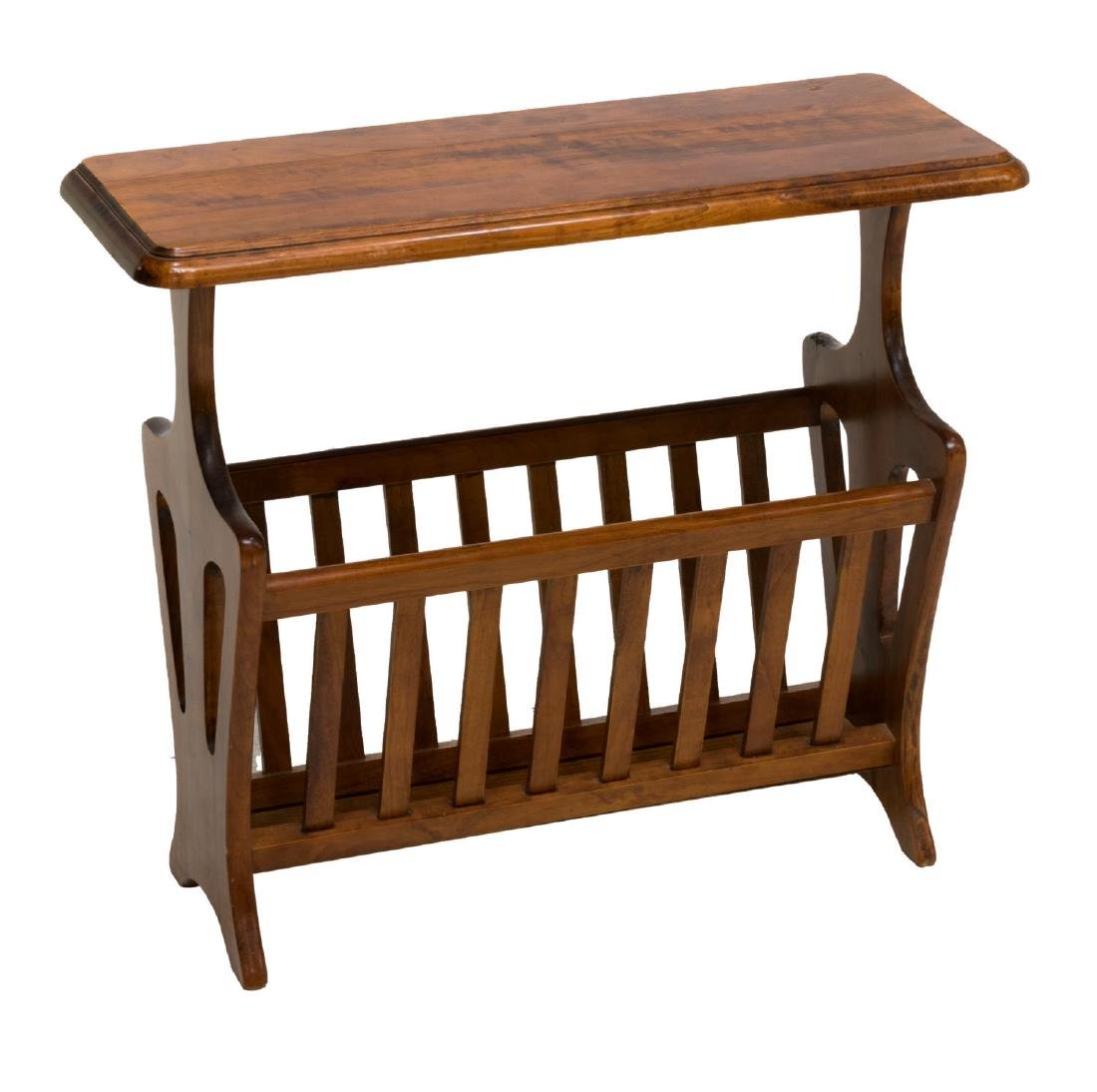 FRENCH CARVED FRUITWOOD MAGAZINE RACK