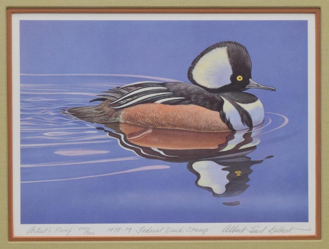 LIMITED EDITION FEDERAL DUCK STAMP PRINT, GILBERT