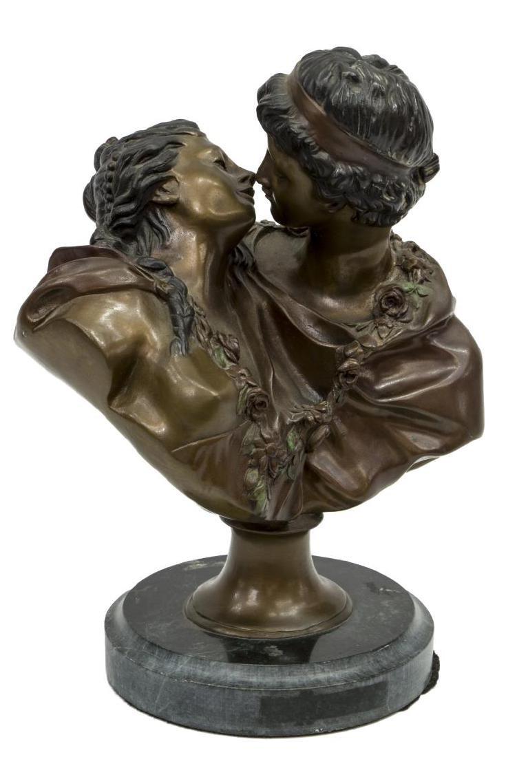 BRONZE SCULPTURE 'THE KISS' AFTER HOUDON