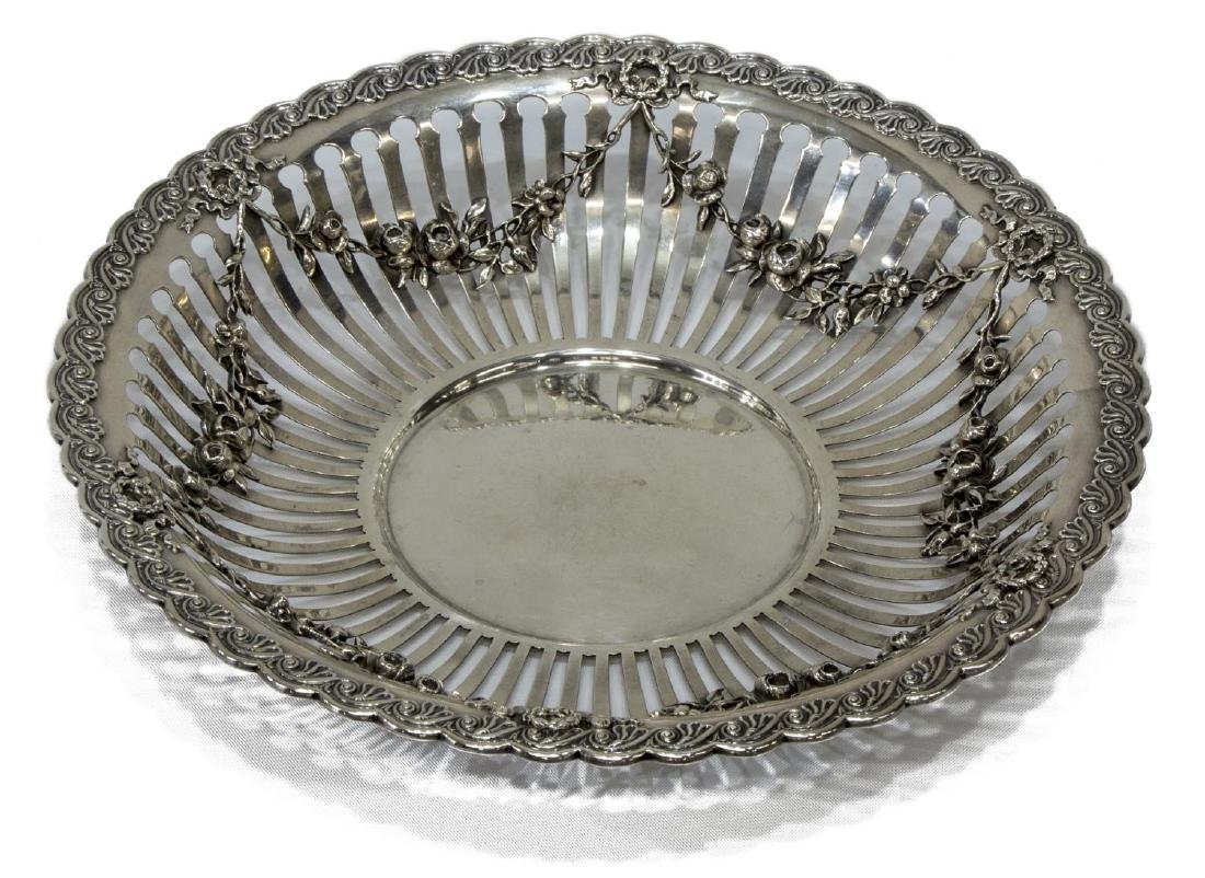 WHITING MFG COMPANY STERLING SILVER FLORAL BOWL