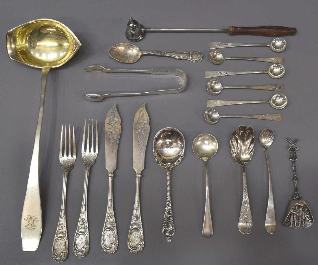 (19) ASSORTED STERLING, 800, & 700 SILVER FLATWARE