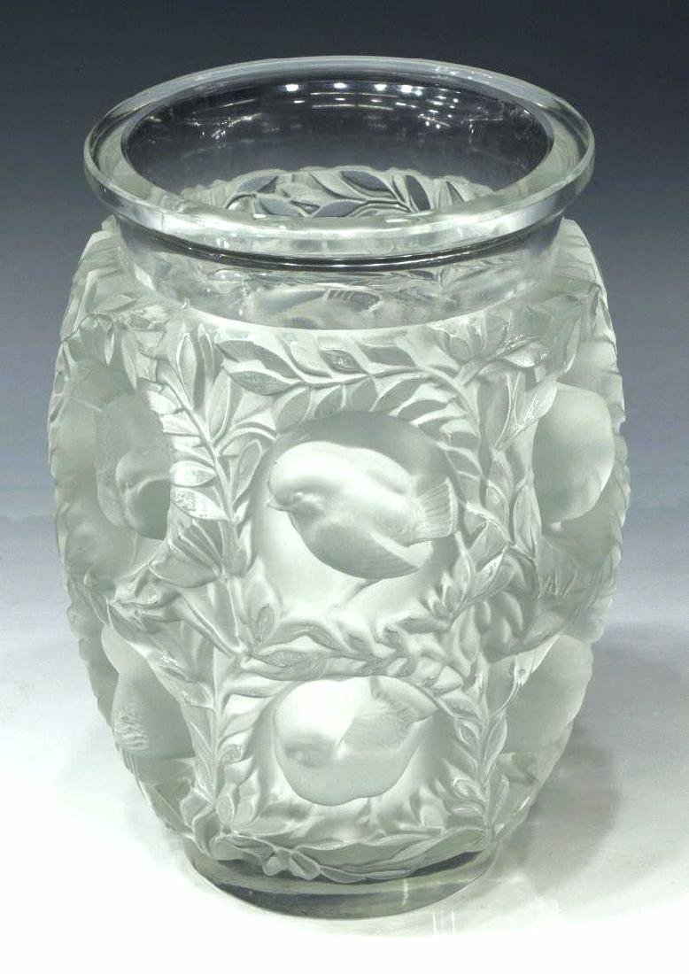 LALIQUE FRANCE 'BAGATELLE' ART CRYSTAL VASE