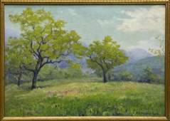 EVE BELLE ADAMS (CAL, D.1960) FRAMED OIL PAINTING