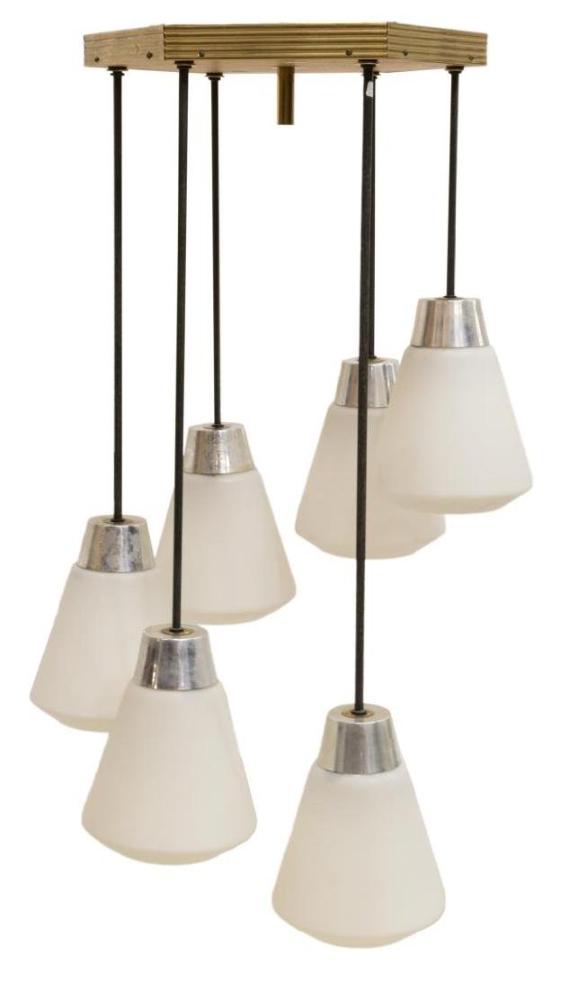 ITALIAN MID-CENTURY MODERN 6 LIGHT CHANDELIER