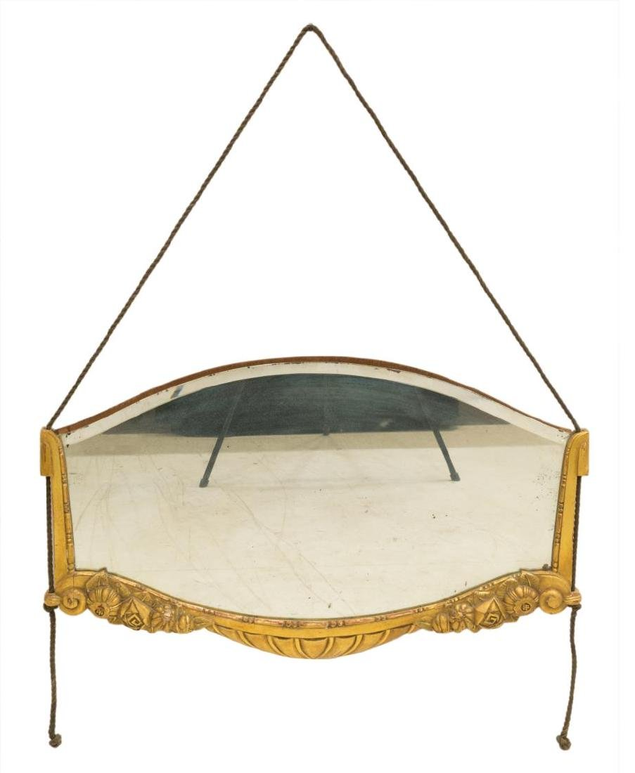FRENCH ART DECO GILT WALL MIRROR