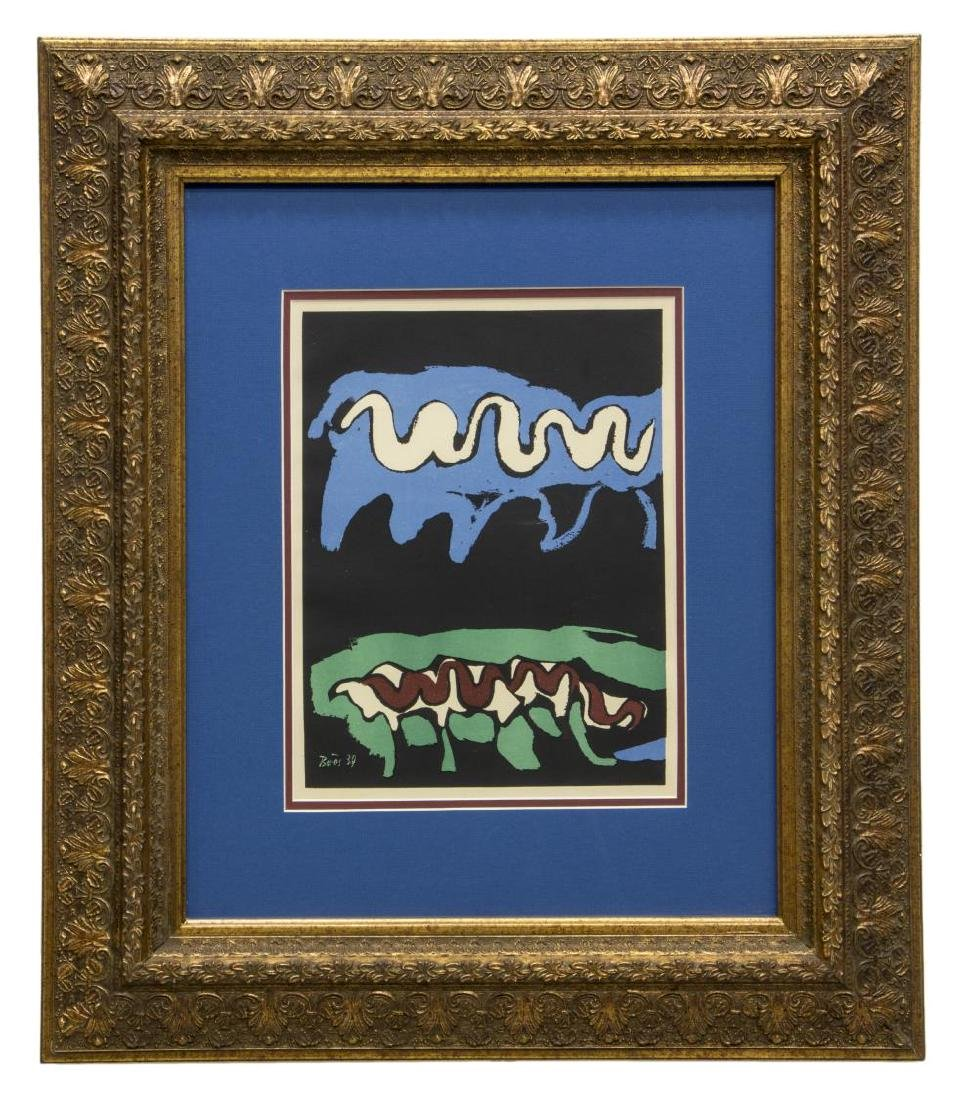 "FRANCISCO BORES (1898-1972) FRAMED ""EARTH"" LITHO"