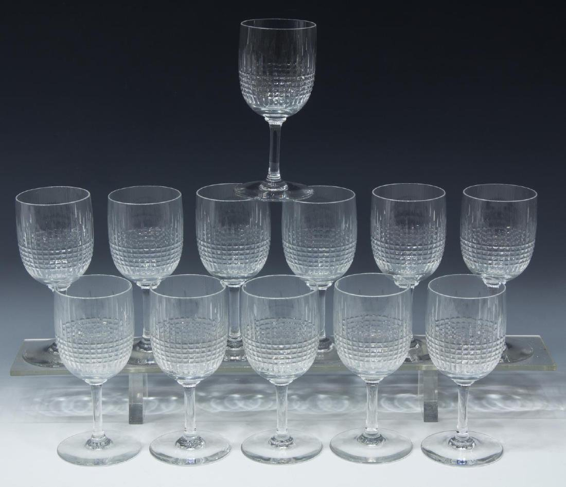 (12) BACCARAT 'NANCY' CUT CRYSTAL CLARET GLASSES