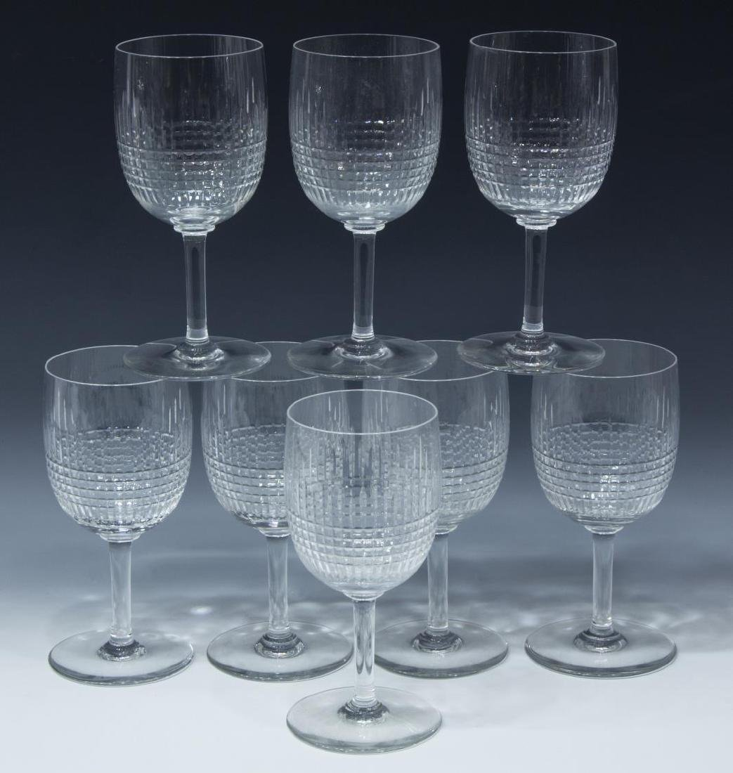 (8) BACCARAT 'NANCY' CUT CRYSTAL WATER GOBLETS