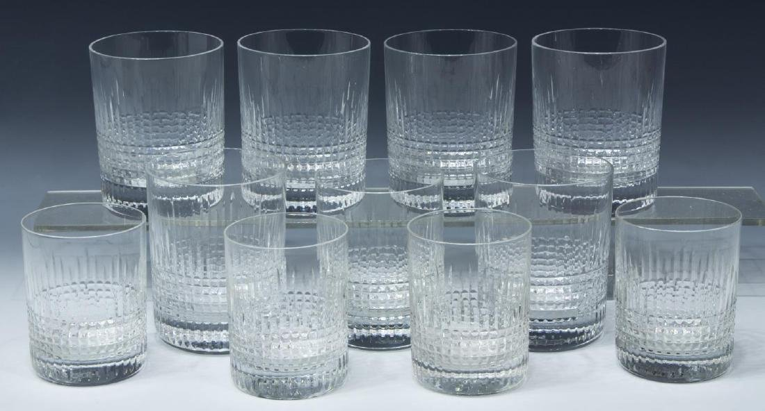 (11) BACCARAT 'NANCY' CUT CRYSTAL TUMBLERS
