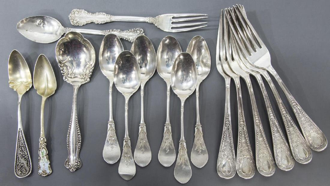 (17) COLLECTION STERLING SILVER FLATWARE, GORHAM