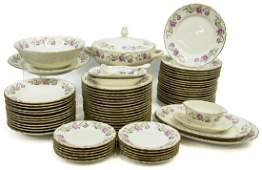 69 ITALIAN RICHARD GINORI PORCELAIN DINNER SET