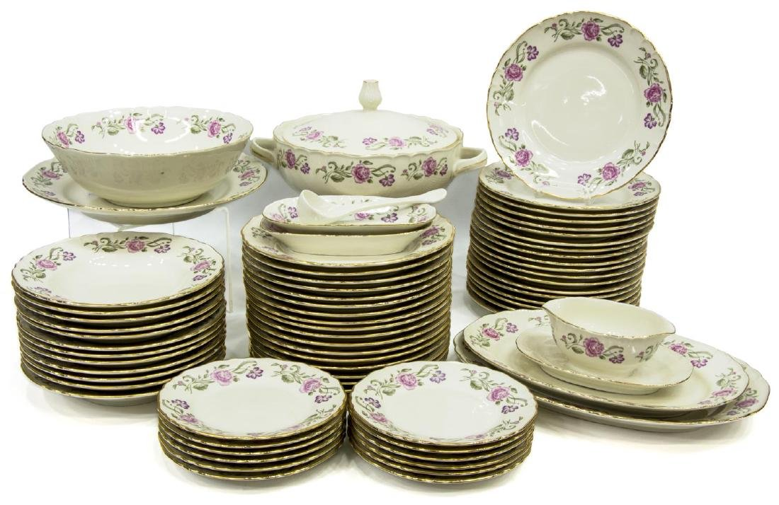 (69) ITALIAN RICHARD GINORI PORCELAIN DINNER SET