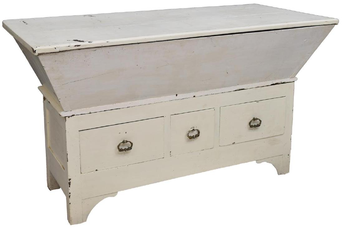 FRENCH RUSTIC PAINTED BREAD CHEST