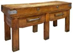 ITALIAN BUTCHER BLOCK WORK TABLE, EARLY 20TH C.