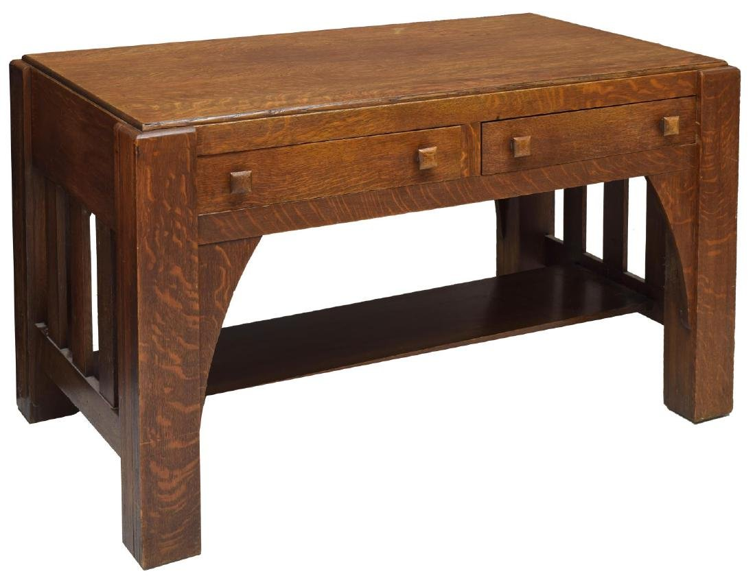 MISSION OAK DESK LIBRARY TABLE