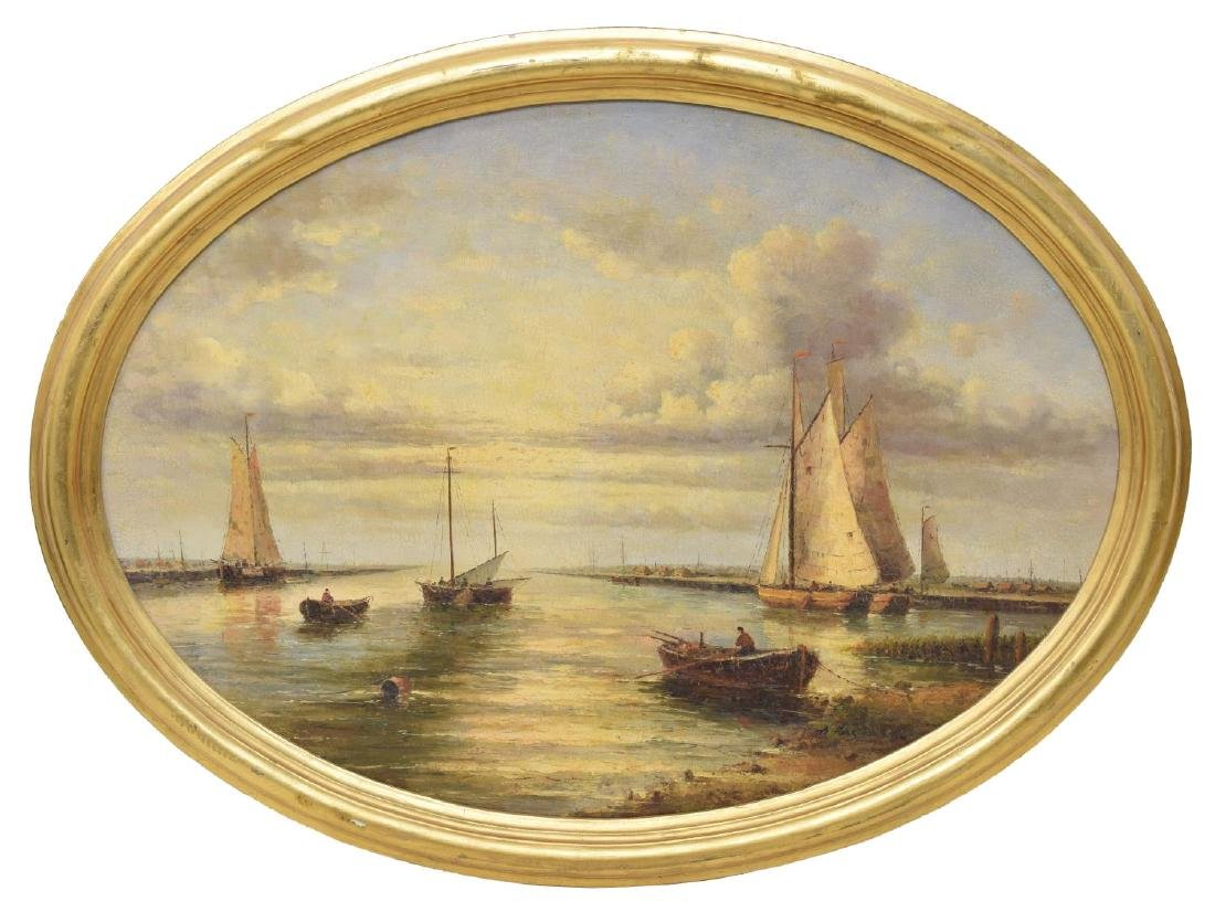 A. HESSE FRAMED OIL ON BOARD PAINTING, SEASCAPE