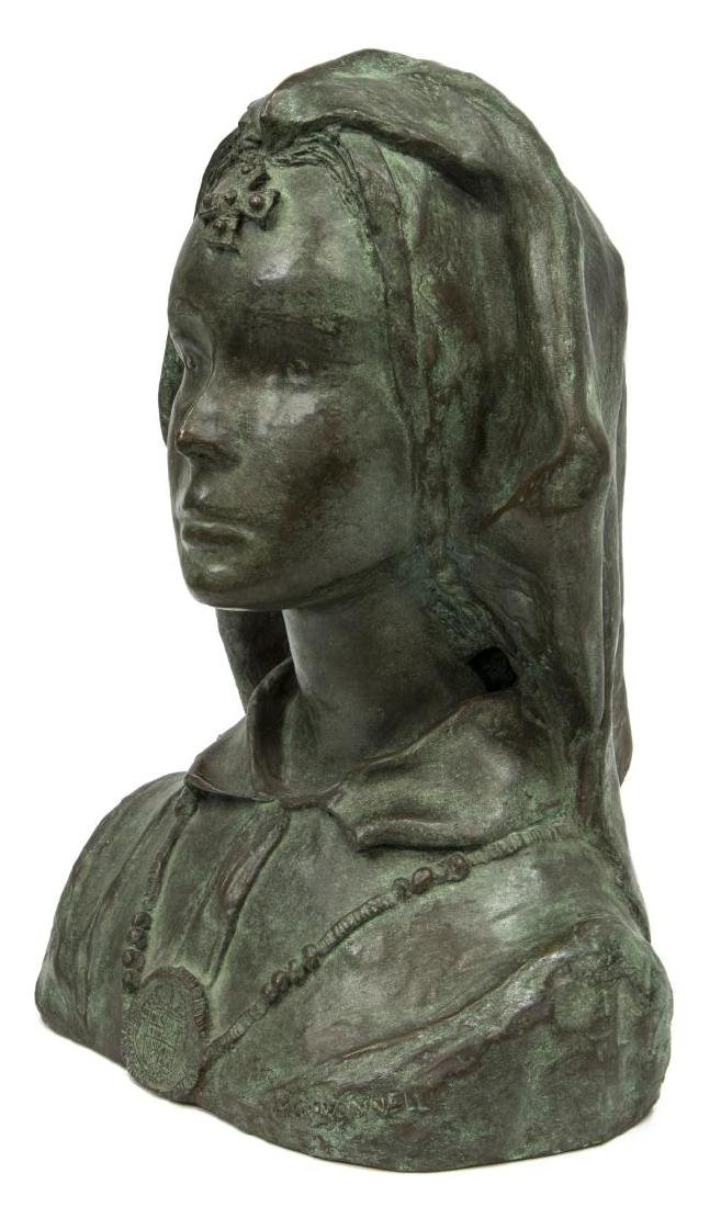 ITALIAN PATINATED BRONZE BUST, SIGNED GIOVANNELLI