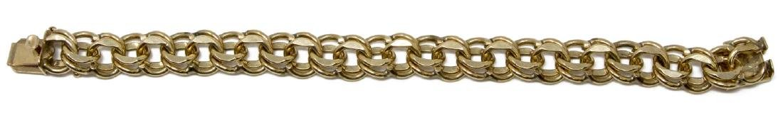LADIES ESTATE 14KT GOLD CHAIN LINK CHARM BRACELET
