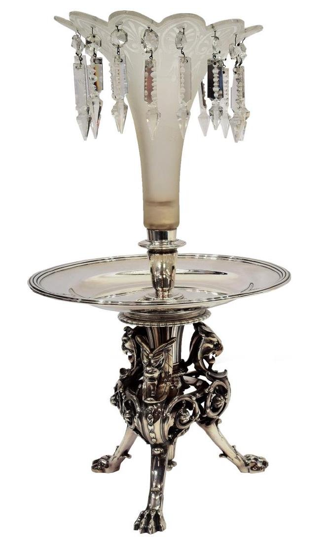 CHRISTOFLE SILVERED GRIFFIN CENTERPIECE EPERGNE
