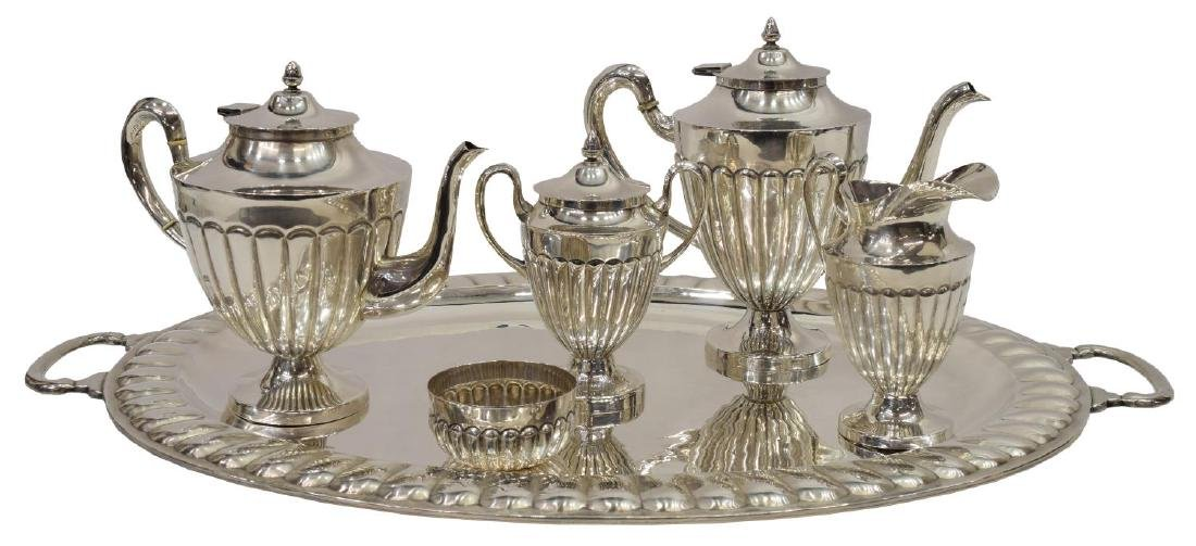 (6) MACIEL STERLING SILVER TEA & COFFEE SERVICE