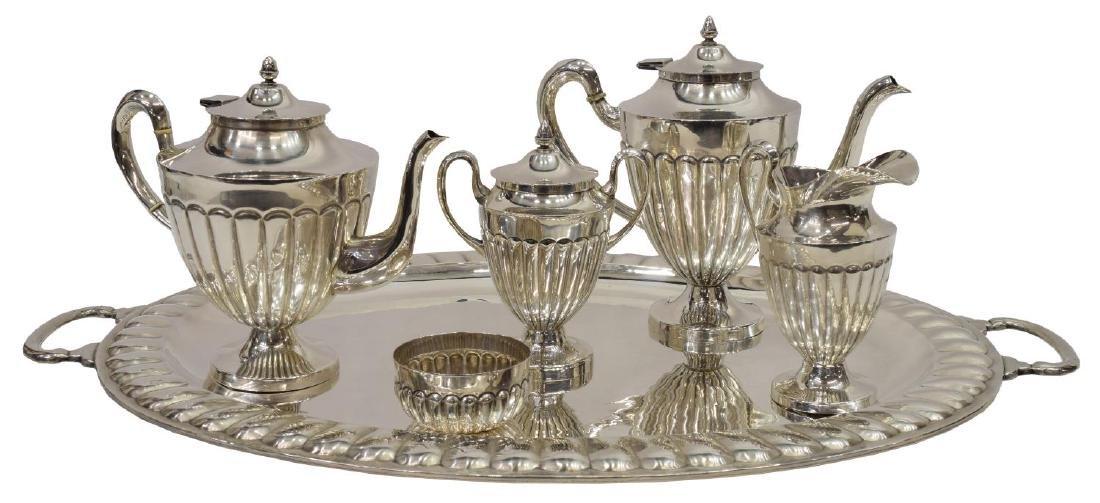 (6) MACIEL STERLING SILVER TEA & COFFEE SERVICE