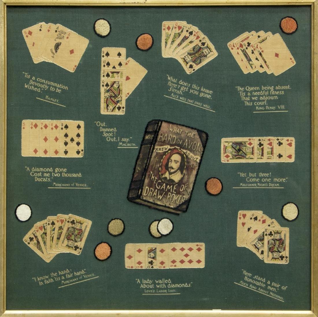 FRAMED GAMBLING, WILLIAM SHAKESPEARE & DRAW POKER