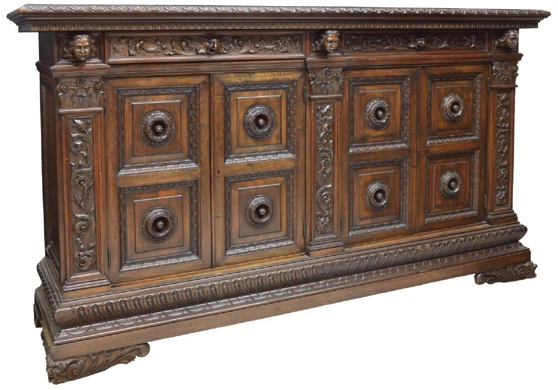 ITALIAN RENAISSANCE REVIVAL HIGHLY CARVED BUFFET