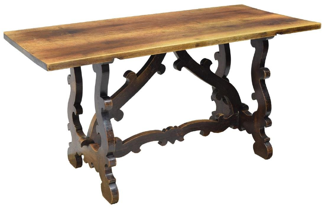 SPANISH CARVED WALNUT DINING TABLE