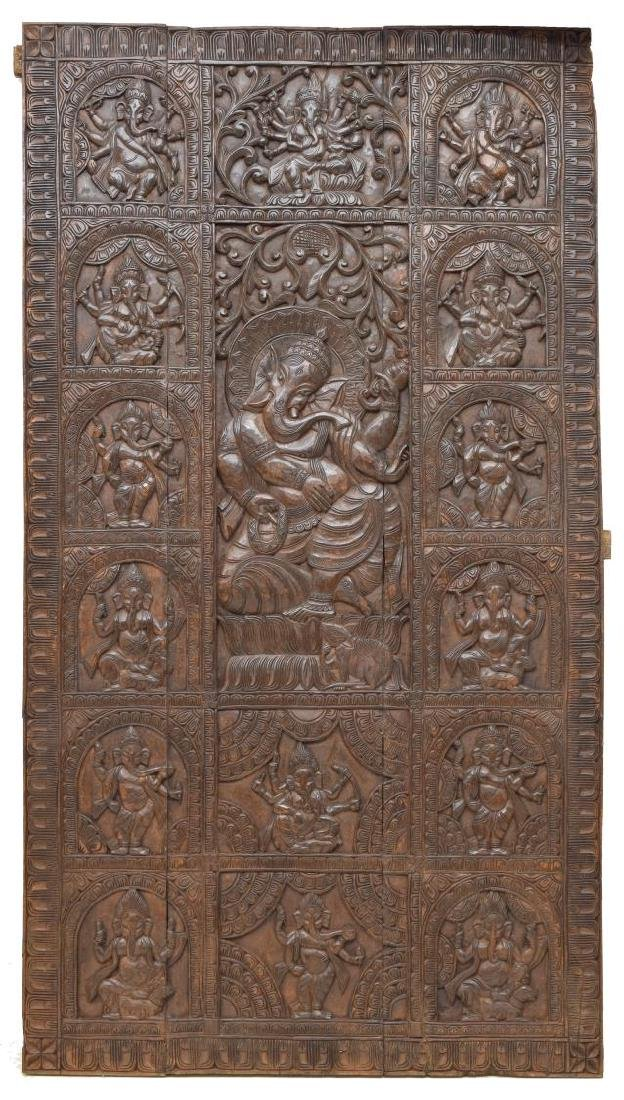 LARGE ARCHITECTURAL RELIEF GANESH WALL PANEL