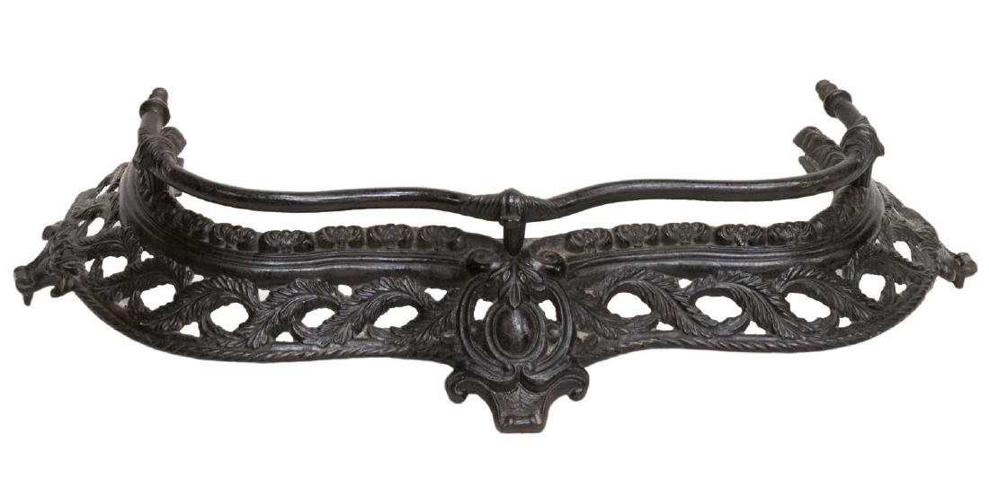 VICTORIAN CAST IRON FIRE FENDER